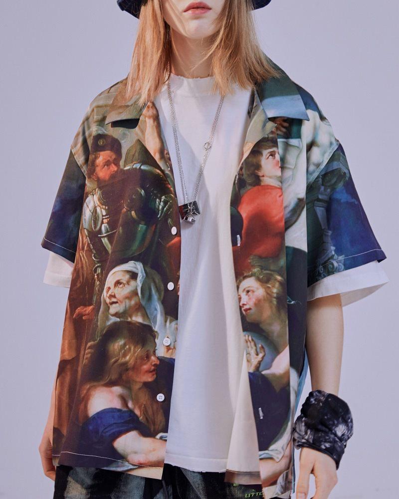 ミラクルザビエル半袖シャツの画像1